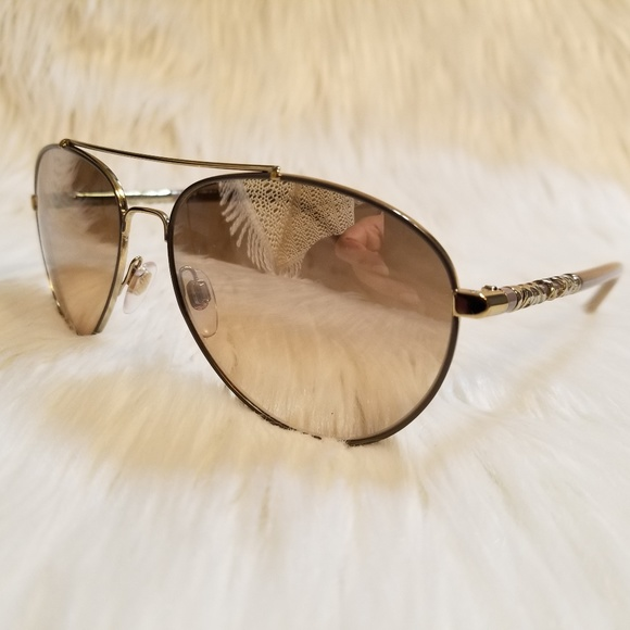 9c5bc3b89bc6 Burberry Accessories | Sunglasses Aviator Mirror Lens Gold Frame ...